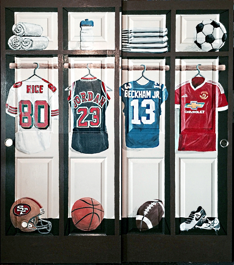Rollover Thumbnails On The Left To See All Sports Bedroom Murals